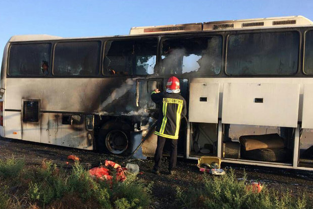 اتوبوس مسیر اردبیل – پارس آباد طعمه حریق شد،این حادثه هیچگونه خسارت جانی نداشت