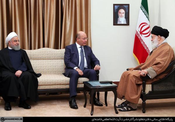 رهبر انقلاب اسلامی با آقای برهم صالح رئیس جمهور عراق دیدار کرد