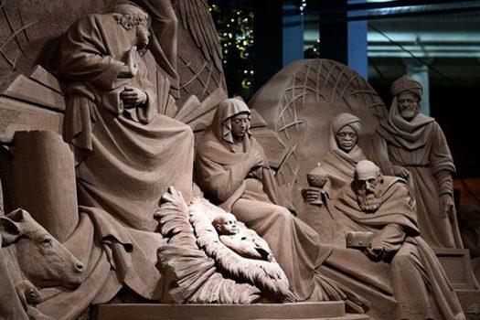آفرینش صحنه میلاد حضرت مسیح علیه السلام در قالب یک اثر هنری شنی