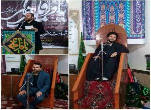 مراسم عزاداری شب هشتم ایام فاطمیه سلام الله علیها در شهرستان پارس آباد + تصویر