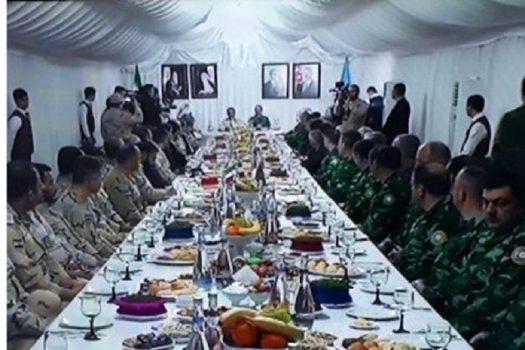 آیین تحویل سال نو مشترک بین مرزبانان ایران و آذربایجان برگزار شد