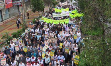 حضور پرشور مردم پارس آباد در راهپیمایی روز قدس + تصاویر