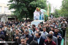 تشییع پیکر شهید مدافع حرم علی آقایی در اردبیل + تصاویر